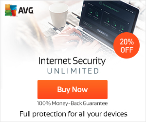 Get 20% off AVG Internet Security Unlimited! Banking