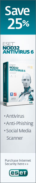 120x600 ESET NOD32 Antivirus - Save 25%