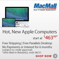 Hot, New Apple Computers at MacMall.com