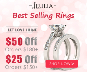 Jeulia Jewelry Sale, $25-$50 Off Coupon
