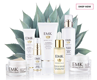 skincare Christmas gifts - EMK products banner