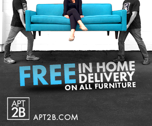 Apt2B Free In Home Delivery on All Furniture