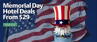 Memorial Day Hotels Deals from $29!