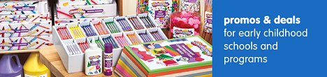 Promos & Deals For Early Childhood Schools & Programs! Get Free Shipping On Orders $33 Or More!