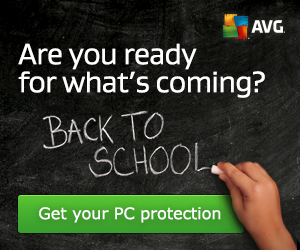 20% OFF AVG Security products: Back to School