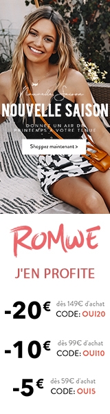 Spring Season Sale at fr.ROMWE.com. Save up to €20 off orders with Code.   Ends April 6