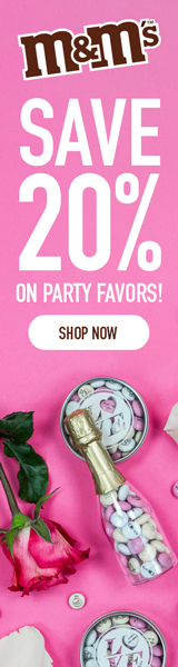 20% Off Favors with M&M's! Use Code DEALS4YOU! Valid 8/1-8/7!