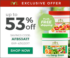 IVL Exclusive offer up to 53% off on all day energy green.