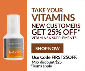Image for (ISO) Summer Special! New Customers get 25% OFF first purchase of Isotonix vitamins and supplements! Use coupon FIRST25OFF. $25 max savings. $99 Ships Free! SHOP NOW! (ends 08/31) 300x250