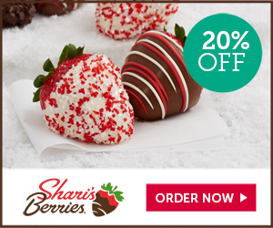Shari's Berries Promo Code 20% off Holiday Strawberries & Sweet Treats (min $39)