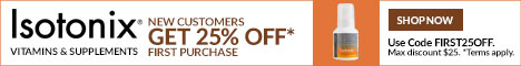 Isotonix.com - New Customers get 25% OFF vitamins with code FIRST25OFF.