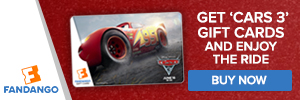 Fandango - Cars 3 Gift Cards