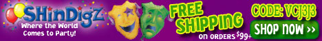 Free Shipping on Mardi Gras Party Supplies $85+