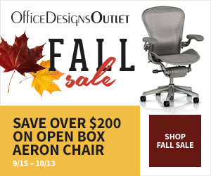 Fall Outlet Sale - save over $200 on Open Box Aeron Chairs + FS. (Valid 9/15 - 10/6)