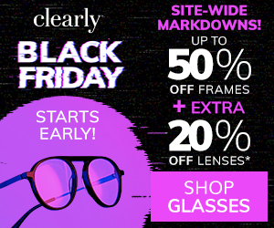 Black Friday Starts Early: Up to 50% off frames + extra 20% off lenses!