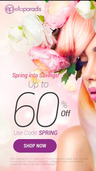 Get up to 60% OFF + Free Shipping with Code SPRING!