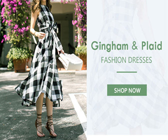 Get Up to 65% OFF Gingham & Plaid Fashion Dresses.