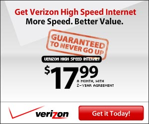 High Speed Internet $17.99/month