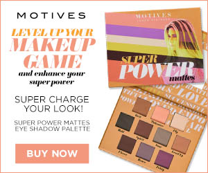 Image for (MC) New!  Super charge your look! Motives Cosmetics Super Power Mattes Eye Shadow Palette.  10 matte eye shadows.  $45.  New Customers save 25% w/code FIRST25OFF.  300x250