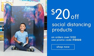 SOCIAL DISTANCING PRODUCTS ON SALE! Save $20 OFF Orders $100 Or More Plus Free Shipping! Use Code: I