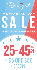 Memorial Day Sale: $5 OFF $50 with Coupon+FREE SHIPPING