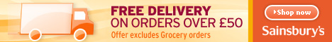 Sainsbury's + Free Delivery - 468x60