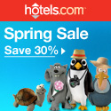 hotels.com Canada: Spring Sale - Save up to 30%!