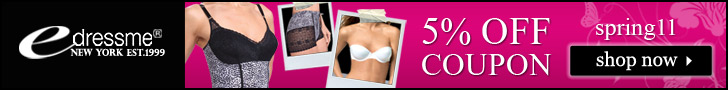 eDressMe 5%Off Undergarments.Use Code spring11