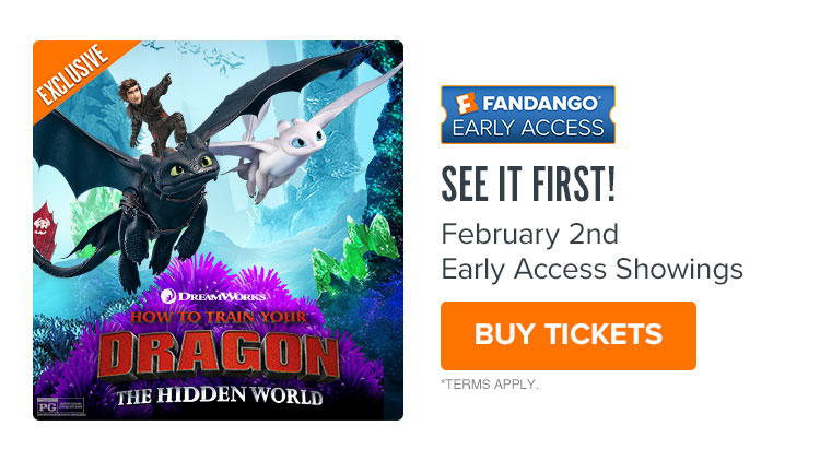 750 x 422 Fandango Exclusive - Early Access Tickets For 'How To Train Your Dragon: The Hidden World'