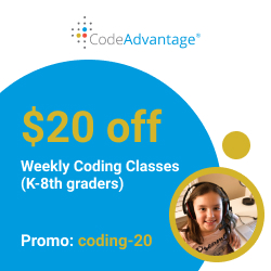 $20 off Weekly Coding Classes