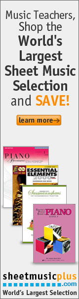 Sheet Music Plus 160 x 600 Teacher Banner 2