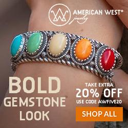 American West Jewelry - Five Stone Cuff