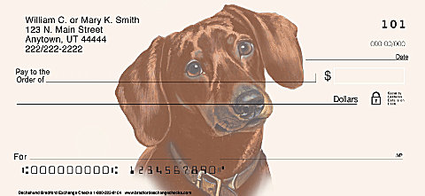 Dachshund Personal Checks