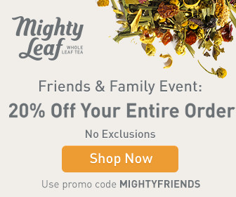 Mighty Leaf Friends & Family Event: 20% Off Sitewide with code MIGHTYFRIENDS.