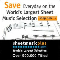 Sheet Music Plus 200 x 200 Generic Banner
