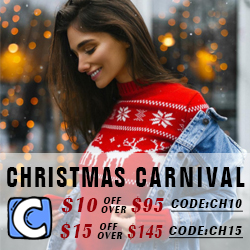$10 Off Over $95 Code:CH10! $15 Off Over $145 Code:CH15