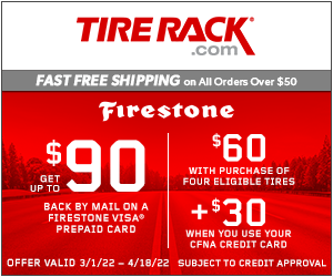 Get Up to a $100 General Tire Visa Prepaid Card