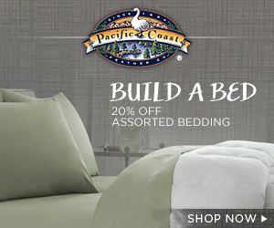 Monthly promotion at Pacific Coast Luxury Bedding