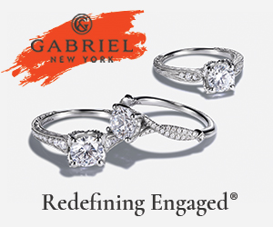 Website Banner: Engagement Ring Banner, Three Rings, 300 x 250