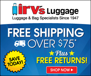 Free Shipping at Irv's Luggage