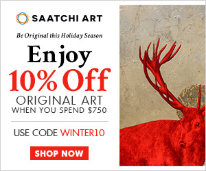 Save 10% off on original art when you spend $750 at Saatchi Art