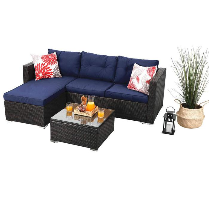 Save $60 for 3 Piece Outdoor Sofa Set with code: Save60