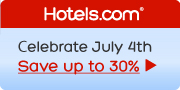 Celebrate July 4th! Save up to 30%! Book by 7/4, Travel by 7/9