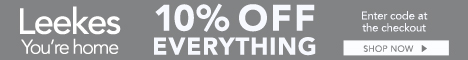 Get 10% off everything at leekes.co.uk this voucher code