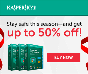 Kaspersky Coupon Code 60% Off - Happy Holidays