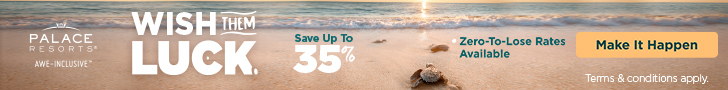 Rethink Winter. Up to 40% at Palace Resorts. Book Now!