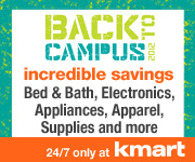 7/8-9/8 - Back To Campus 2012! Incredible Savings on Bed & Bath, Electronics, Appliances, Apparel,