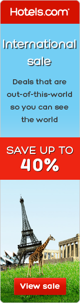 Hotels.com Canada International Sale: Save up to 40%!