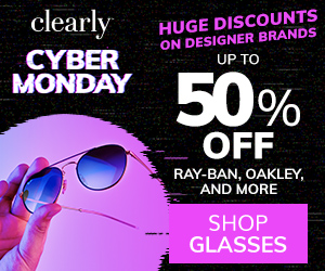 Save up to 50% off Premium Brands including Ray-Ban & Oakley at Clearly!