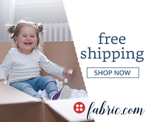 Fabric.com coupon - free shipping everyday